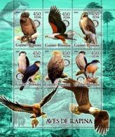 Guinea - Bissau 2005 - Birds Of Prey & Rotary 6v, Y&T 2092-2097, Michel 3237-3242 - Guinea-Bissau