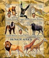 Guinea - Bissau 2005 - Fauna Of Africa & A. Schweitzer 6v, Y&T 2110-2115, Michel 3209-3214 - Guinea-Bissau