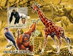 Guinea - Bissau 2005 - Fauna Of Africa & A. Schweitzer S/s, Y&T 296, Michel 3221/BL536 - Guinea-Bissau