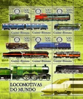 Guinea - Bissau 2005 - Trains & Rotary 6v, Y&T 2129-2133, Michel 3276-3281 - Guinée-Bissau