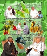Guinea - Bissau 2005 - Pope In Africa (+butterflies, Orchids..) 6v, Y&T 2146-2151, Michel 3202-3207 - Guinea-Bissau