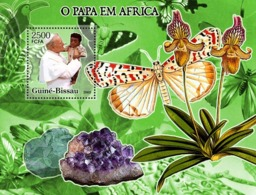Guinea - Bissau 2005 - Pope In Africa (+butterflies, Orchids..) S/s, Y&T 302, Michel 3208/BL535 - Guinea-Bissau