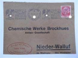 """1937 DR Brief Freistempel """"Stadt Der Reichsparteitage Nürnberg"""" - Briefe U. Dokumente"""