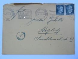 """06.01.1945 DR Brief Berlin, Freistempel """"Kriegs-WHW 1944-1945 - Sinnbild Unseres Sozialismus"""" - Germany"""