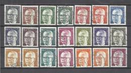 Q575D-Alemania Federal USADO 505/17 GERMANY 1970-73 Serie-Presidente G.Heinemann .14.00€ - Alemania
