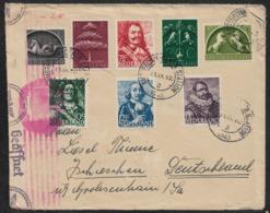 1943 NIEDERLANDE OKW ZENSUR AMSTERDAM  - ZENSURSTREIFEN Mi. 405,406,408,411-415 - Periode 1891-1948 (Wilhelmina)