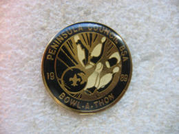Pin's Club De Bowling Peninsula Council BSA 1989 Bowl-a-THON - Bowling