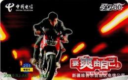 CHINA. COCA COLA. MOTORCYCLE MAN. 2004-XJ-AKS-08(10-9). (743) - China