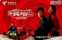 CHINA. COCA COLA. MOTORCYCLE COUPLE. 2004-XJ-AKS-08(10-6). (744) - China