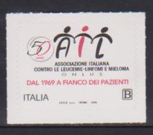ITALY, 2019, MNH , ITALIAN ASSOCIATION AGAINST LEUCEMIA AND MELANOMA,1v - Health