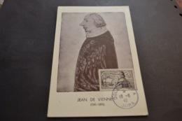 RARE Carte Maximum 16/06/1942 Jean De Vienne N°544 - Maximumkaarten