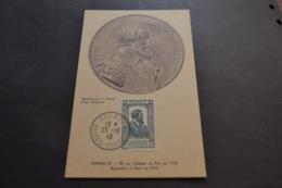 Carte Maximum 25/10/1943 Série Célébrités Henry IV N°592 - Maximumkaarten