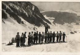 74. CPSM. COL DES ARAVIS.  Chez Blanc, Chalet Hotel, L'école De Ski, 1951.  Scan Du Verso. - Francia