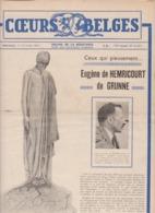 COEURS BELGES Organe De La Résistance Guerre 40-45  Eugène De HEMRICOURT De GRUNNE - Belgium