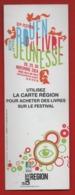 #82#   LA CARTE REGION - FESTIVAL DU LIVRE JEUNESSE 2014  - MARQUE PAGE - Marque-Pages