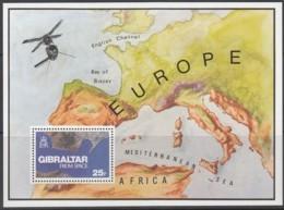 GIBRALTAR Block 5, Postfrisch **, Gibraltar Aus Dem Weltraum Fotografiert 1978 - Gibraltar
