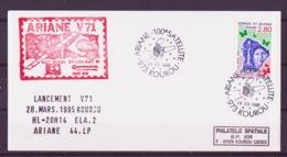 ESPACE - ARIANE Vol Du 1995/03 V71 - CSG - 1 Enveloppe Satellite - Europe