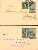 Entier Postal Bosnie-Herzegovine, Sarajevo Pour La France Avec Timbres Perforé P.L.B, 1912, 2 Cartes   (bon Etat) - Bosnie-Herzegovine