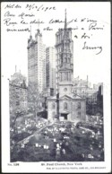 NEW YORK Gillender Building Sent 1902 From HOLDER, Fla To Belgium - Autres Monuments, édifices