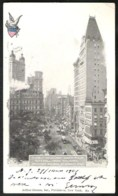 NEW YORK View Of Broadway Sent 1901 From NEW YORK N.Y. STA.O  To Belgium - Broadway
