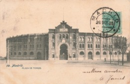 Espagne Madrid Plaza De Toros + Timbre Cachet Madrid 1905 - Madrid