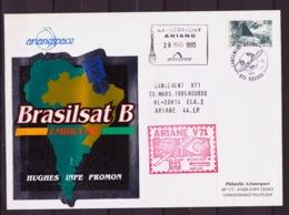 ESPACE - ARIANE Vol Du 1995/03 V71 - Arianespace - 2 Documents - Europe