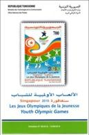 TUNISIA - 2010 - Notice Leaflet Youth Olympic Games Singapore Olympics Juegos Olímpicos De La Juventud - Summer 2010 : Singapore (Youth Olympic Games)