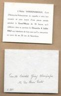 Aulnoy-lez-Valenciennes (59) Abbé Vandenabeele 25ans De Sacerdoce 08-07-1962 Oswald-Givry-Champagne 17 Rue Henri-Turlet - Faire-part