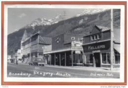 Carte Postale Etats Unis Alaska Skagway Broadway Trés Beau Plan - Etats-Unis