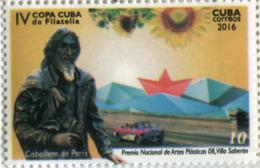 Lote CU2016-7, Cuba, 2016, Sello, Stamp, Premio Nacional De Artes Plasticas, 6 V, Celebrity, Lennon, Gabo, Gades - Cuba
