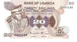 UGANDA 20 SHILLINGS 1973 PICK 7c UNC - Oeganda