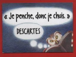 #84#  ESPACE ALYA - CITATION DESCARTES * CHOUETTE - HIBOU *  - CARTE  MARQUE PAGE - Marque-Pages