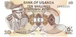 UGANDA 10 SHILLINGS 1973 PICK 6c UNC - Uganda