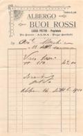 "08669 ""ALBERGO BUOI ROSSI - ALBA (CN) - LUCCA PIETRO PRORIETARIO - FATTURA 1910"" ORIG. - Italia"