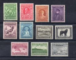 CANADA - (1932 - Province - NEWFOUNDLAND) - 11 Valori - Nuovi - Linguellati - (FDC16892) - 1908-1947