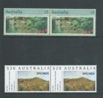 Australia 1994 Specimen Overprints Part 2 $5 & $20 MNH Pairs - Uncommon Multiples - 1990-99 Elizabeth II