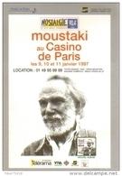"""Carte Postale édition """"Dix Et Demi Quinze"""" - Moustaki Au Casino De Paris (chanteur - Musicien) - Music And Musicians"""