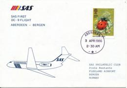 Great Britain SAS First DC-9 Flight Aberdeen - Bergen 3-4-1986 - 1952-.... (Elizabeth II)