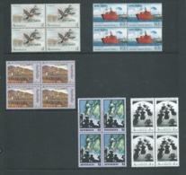 Australia 1992 Specimen Overprints Set Of 5 In Fresh MNH Bocks Of 4 - 1990-99 Elizabeth II