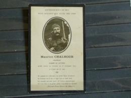 PFC - Faire Part Deces Maurice Chalhoub Aviateur Et Homme De Lettres Mort Pour La Patrie 6 Fevrier 1916 Militaria - Décès