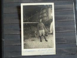 PFC - Carte Photo Aviateur M. Bagnus Pris Devant Son Aeroplane Le 13 Aout 1918 - Signature Et Texte De L'aviateur - War 1914-18