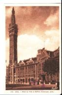 Lille. Hôtel De Ville Et Beffroi.à Mme Jolibois Et M. Et Mme Bordeux Octave Café De La Mairie. Flixecourt. 1952. - Lille