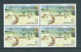 Australia 1987 Specimen Overprint On $5 Mentone Holiday MNH Block Of 4 - Mint Stamps