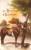 Un Bonjour D'Etterbeek (gendarme Militaire Cavalier Cheval) - Etterbeek