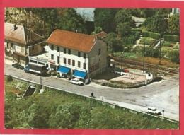 "CPM  -  ""Hôtel Restaurant De La Gare "" - Chauvin Pierre - Quai Edouard Serulaz - 01420 -  Seyssel - Seyssel"