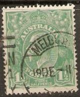 Australia  1918      SG  61  1,1/2d   Fine Used - 1913-36 George V : Heads