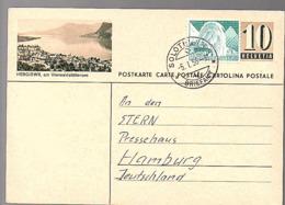 1956 HERGISWIL Solothurn > Hamburg (650) - Ganzsachen