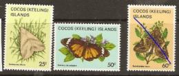 Cocos Keeling Islands  1982  SG 89,94,6  Moths  Unmounted Mint - Kokosinseln (Keeling Islands)