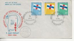 5 Eme Annivers. De L'autonomie.FDC 12. - Niederländische Antillen, Curaçao, Aruba