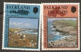 Falkland Isands 1990  SG 598-9   Scenic Bays  Fine Used - Falkland Islands